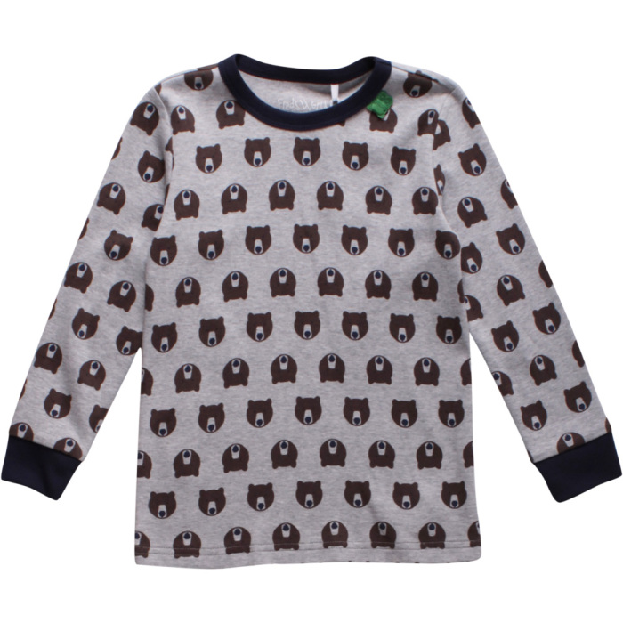 Fred's world bear t-shirt baby grå