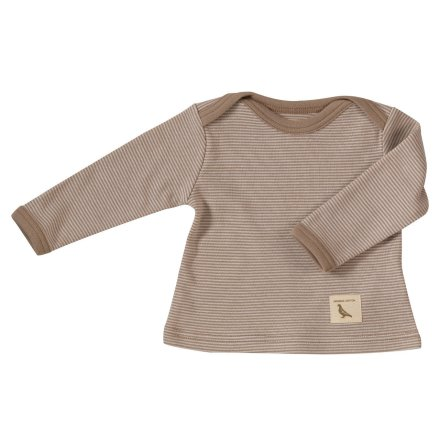 Pigeon fine stripe T-shirt, taupe