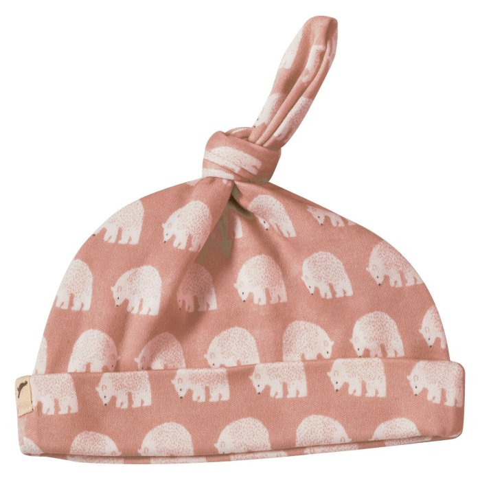 Pigeon bear knotted hat, pink