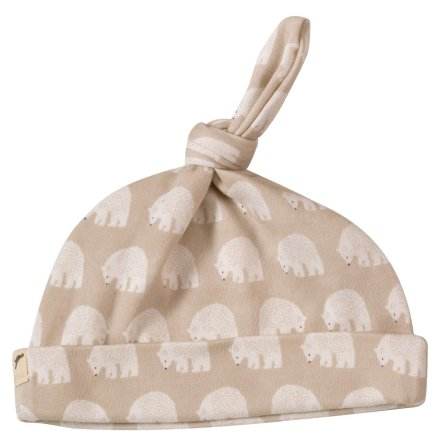 Pigeon bear knotted hat, taupe
