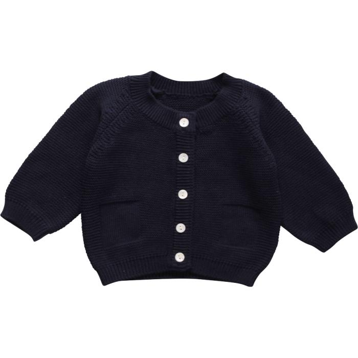 Müsli knit cardigan baby navy