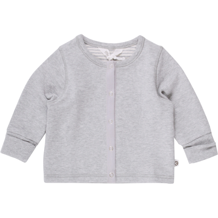 Müsli sweat cardigan baby grey