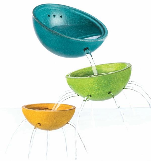 PlanToys badleksak - skålar med hål
