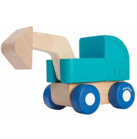 PlanToys mini grävskopa