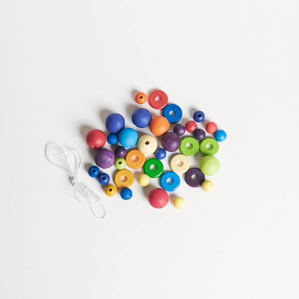 Grimms, blandade pärlor och diskar, 35 st