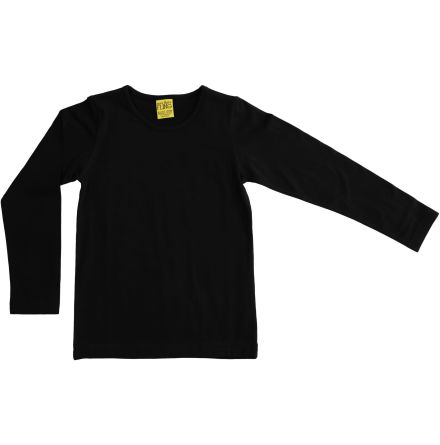 More than a fling (Duns) solid black LS top