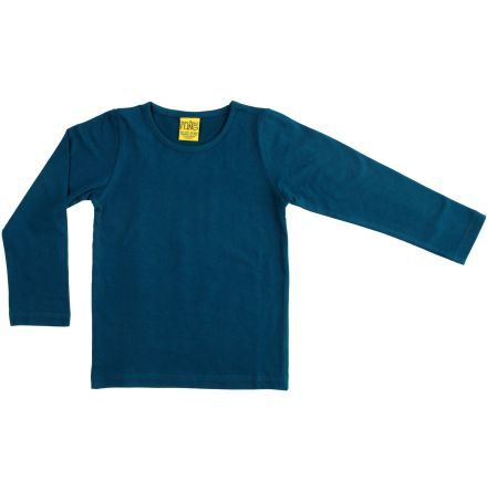 More than a fling (Duns) solid deep teal LS top