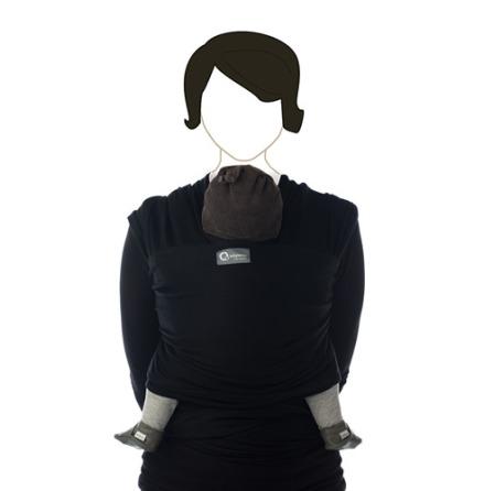Tricot-slen svart bärsjal