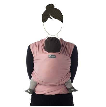 Tricot-slen soft pink bärsjal
