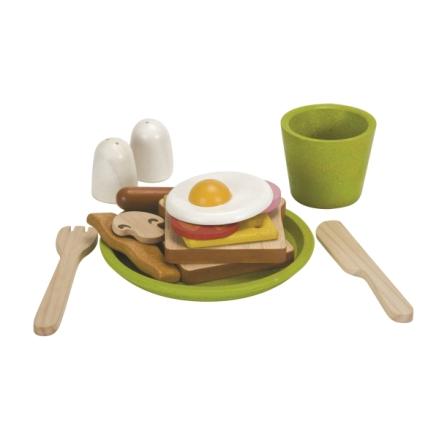PlanToys frukostset i trä