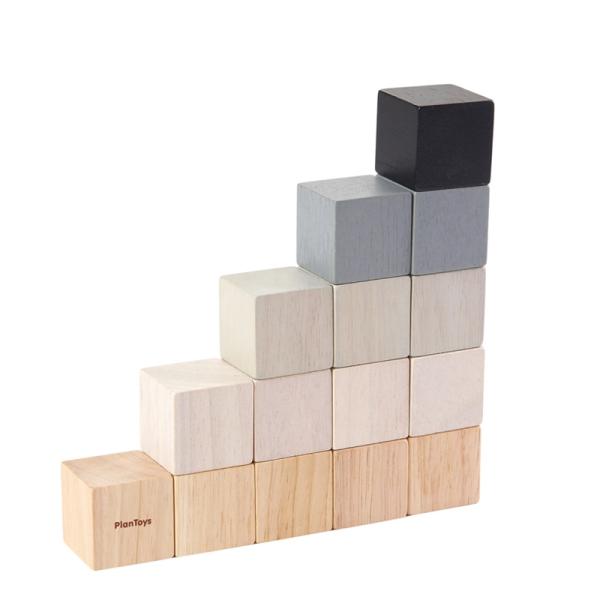 PlanToys 15 cubes ekologiska byggklossar