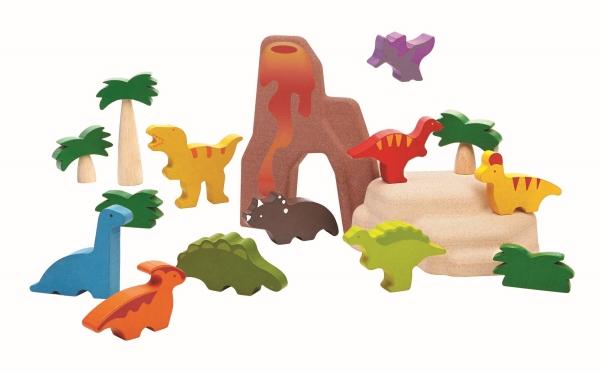 PlanToys Dinosaurielandskap