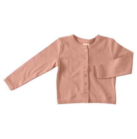 Pigeon pointelle cardigan, pink