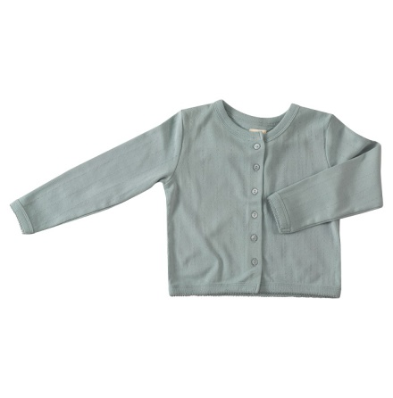 Pigeon pointelle cardigan, blue