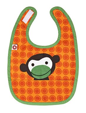 Franck & Fischer food bib orange monkey