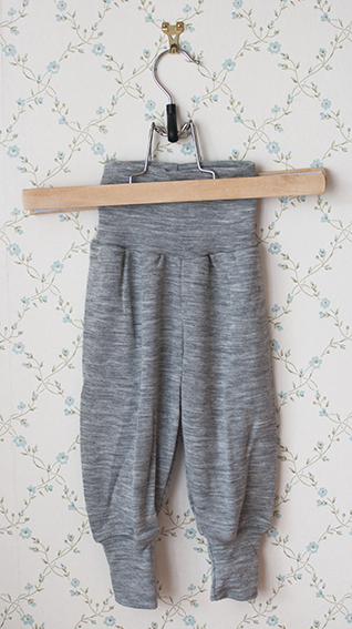 Engel muddbyxor i ull/silke, grå