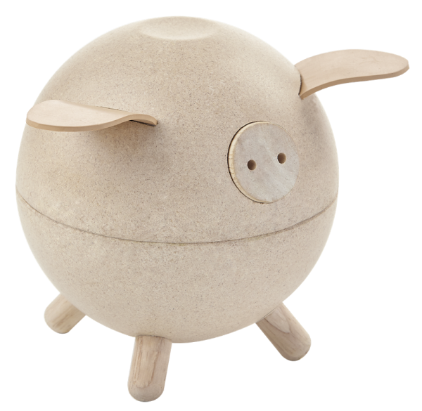 PlanToys piggy bank white Spargris
